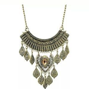 Egyptian antique bronze necklace/bib